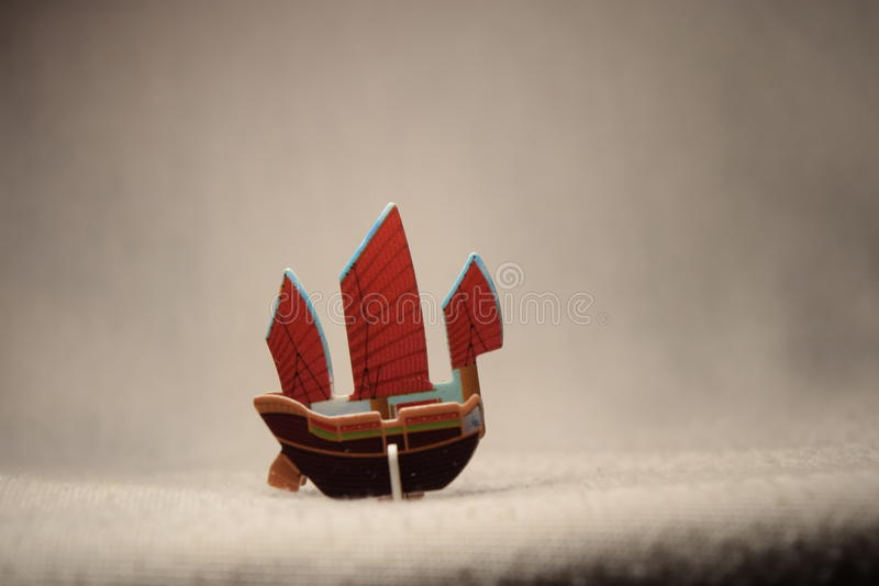 Ship miniature royalty free stock photos