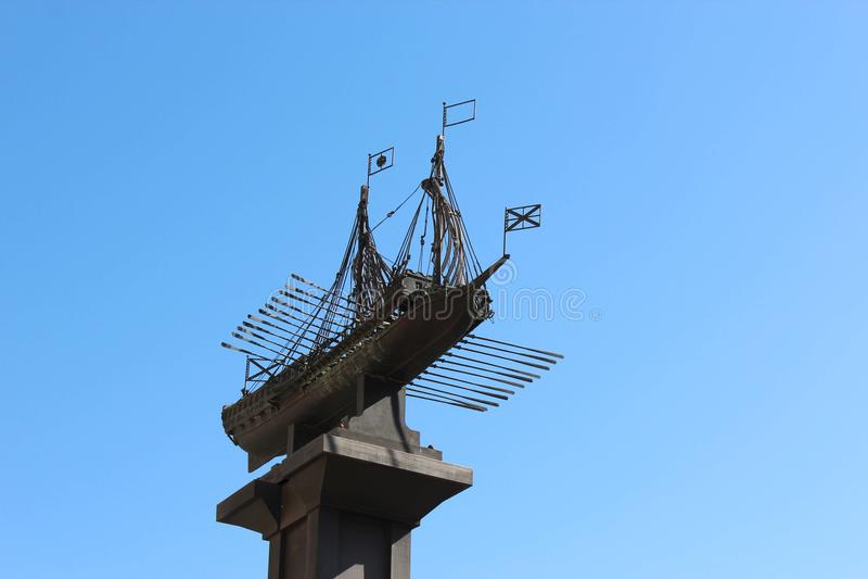 Ship monument royalty free stock photos