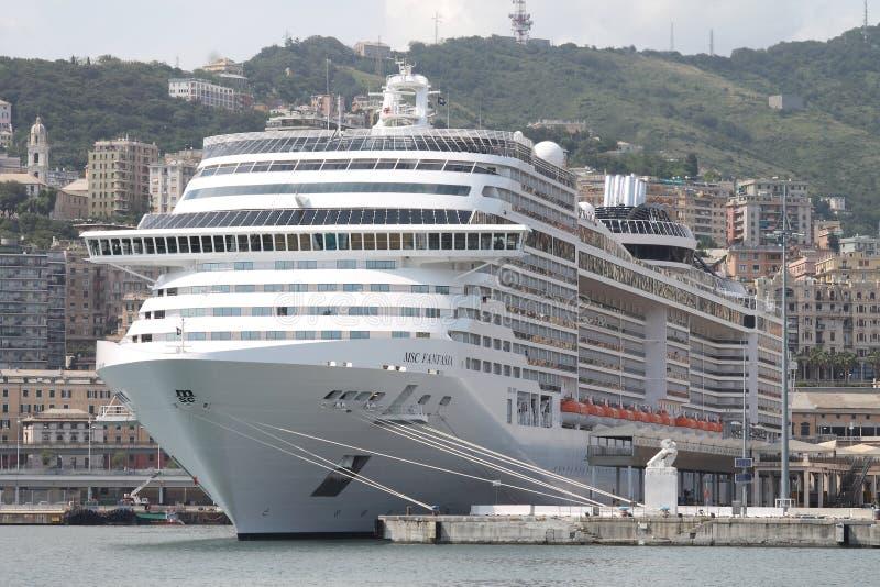 Ship MSC Fantasia royalty free stock photos