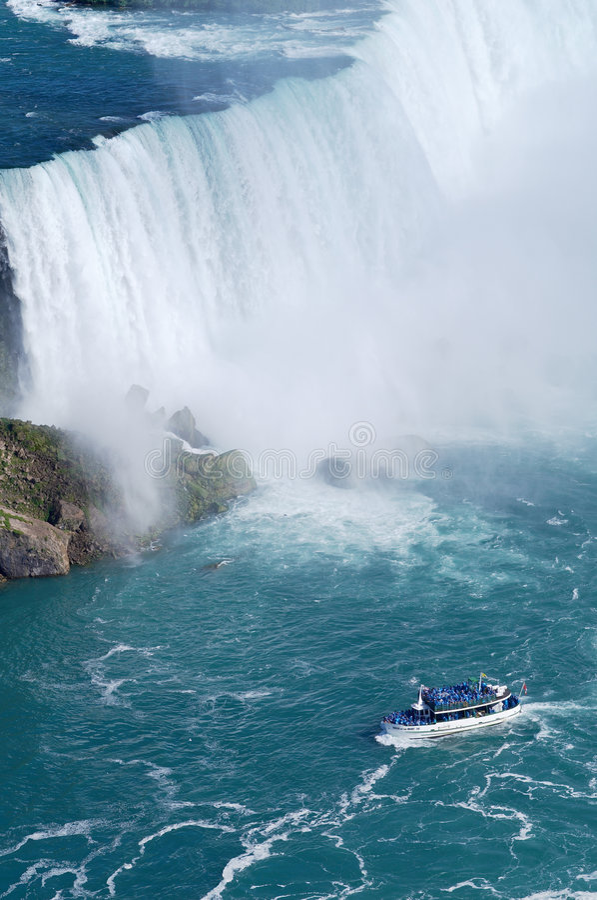 Download Ship near Niagara Fall stock photo. Image of american - 7926900