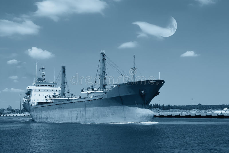 Download Ship near the pier stock image. Image of seascape, stars - 27735363