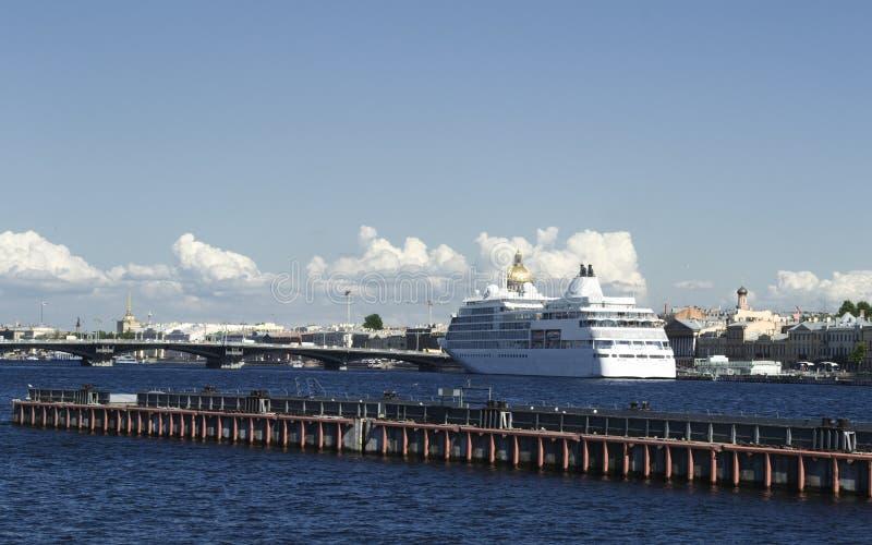 Ship on Neva river