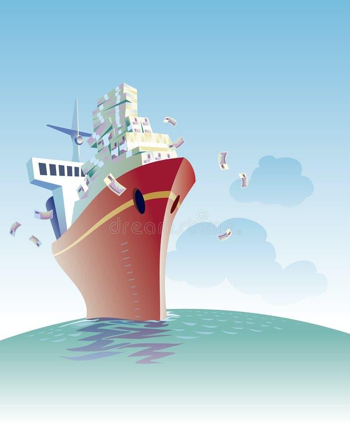 Free Ship Of Money Royalty Free Stock Photo - 3406415