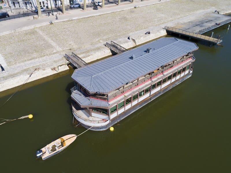 Ship in Orleans, Loiret, Centre-Val de Loire royalty free stock images