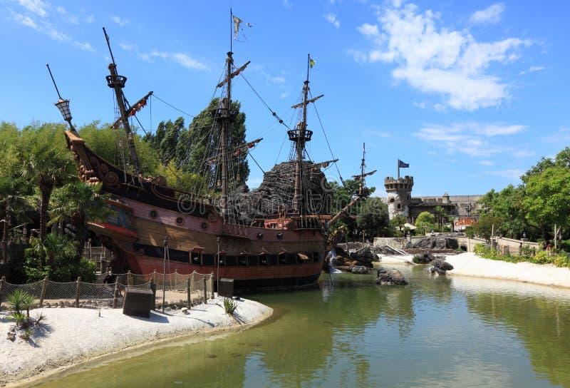 Ship of pirates royalty free stock image