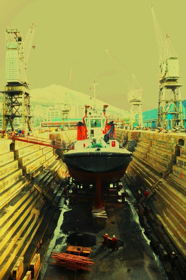 Ship in port stock photos