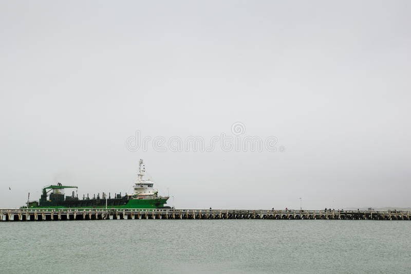Ship in the port in Ostend, Belgium. 2016 royalty free stock images
