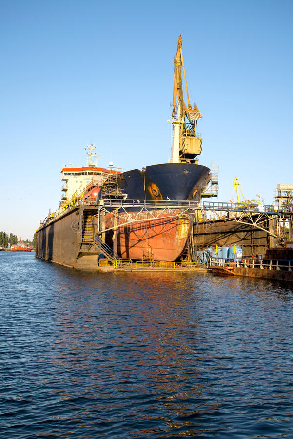 Ship repair royalty free stock images