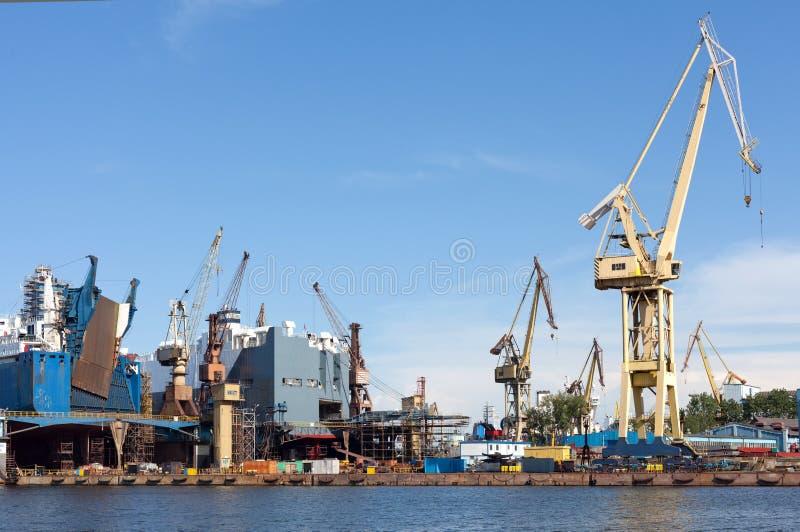 Ship Repair Yard. royalty free stock image
