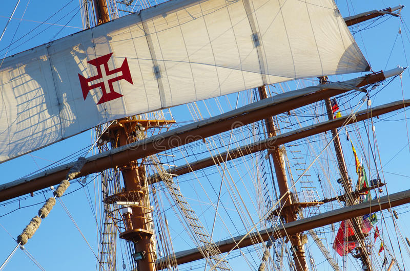 Download Ship Rigging stock photo. Image of antique, rope, portuguese - 26364566