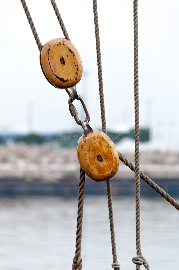Ship rigging royalty free stock photo