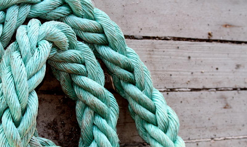 Ship rope royalty free stock photography