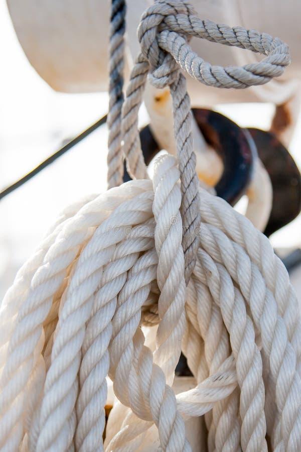 Ship rope royalty free stock photo