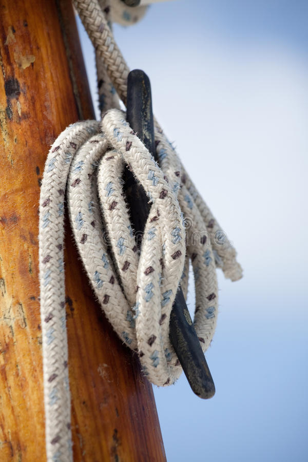 Download Ship ropes stock image. Image of knot, blue, cleat, close - 14277617