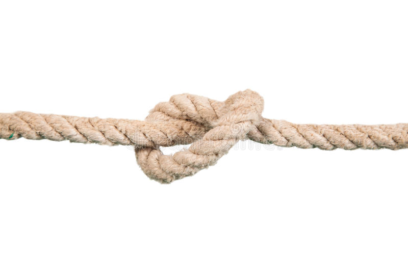 Ship ropes with knot royalty free stock images