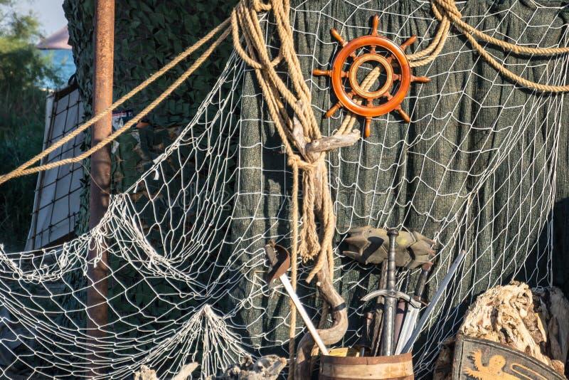 Ship& x27; rueda de s fotografía de archivo libre de regalías