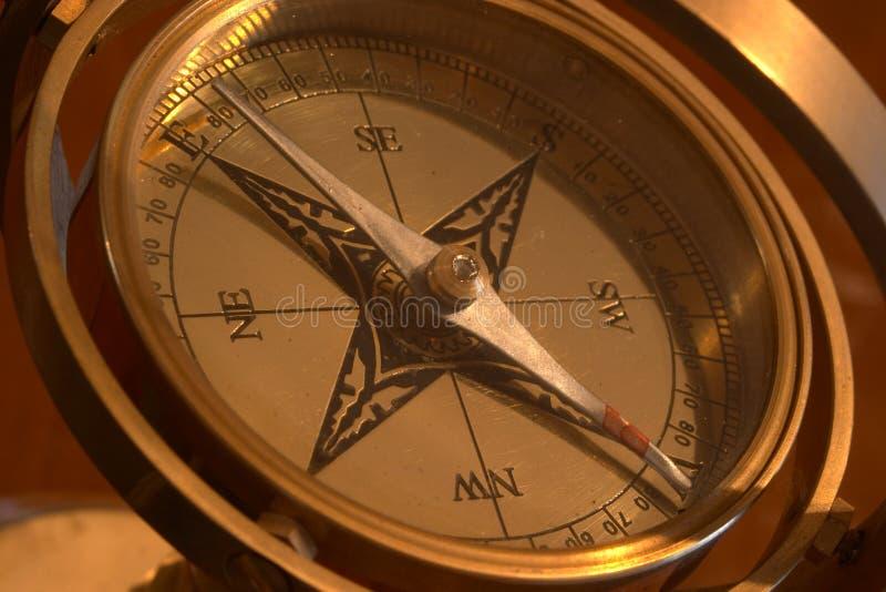 Ship's compass stock photos