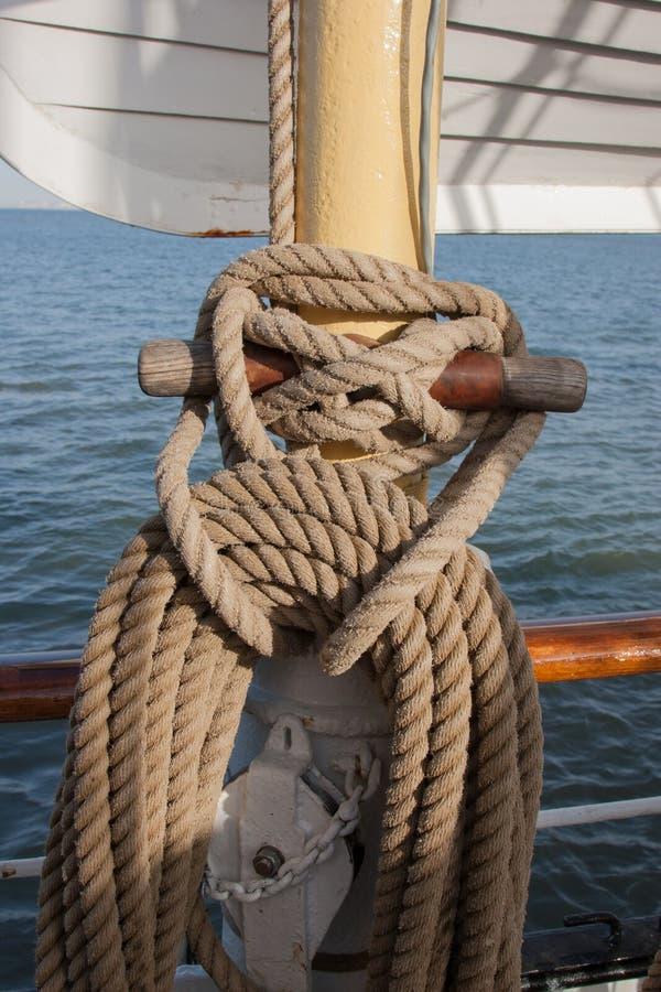 Ships rigging royalty free stock photo