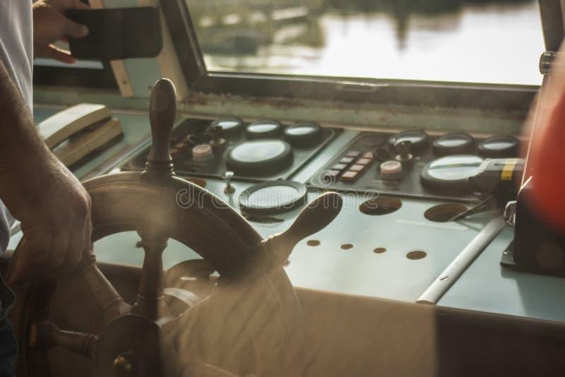 Ship& x27; s roer royalty-vrije stock fotografie