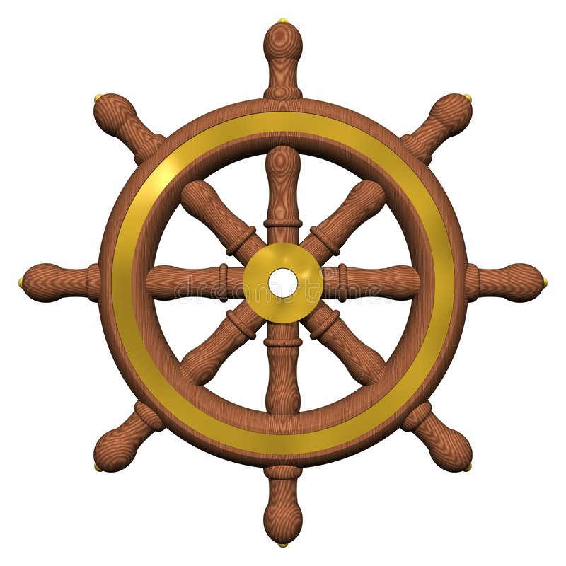 Ship's Wheel royalty free illustration