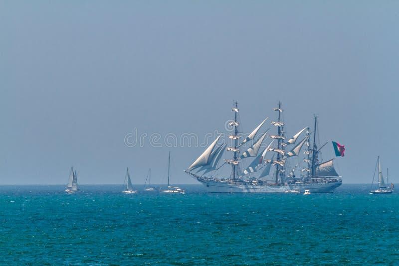 Ship Sagres royaltyfri bild