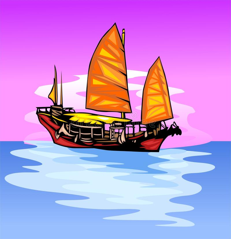 Download Ship with a sail. stock vector. Image of ready, sailing - 14851122