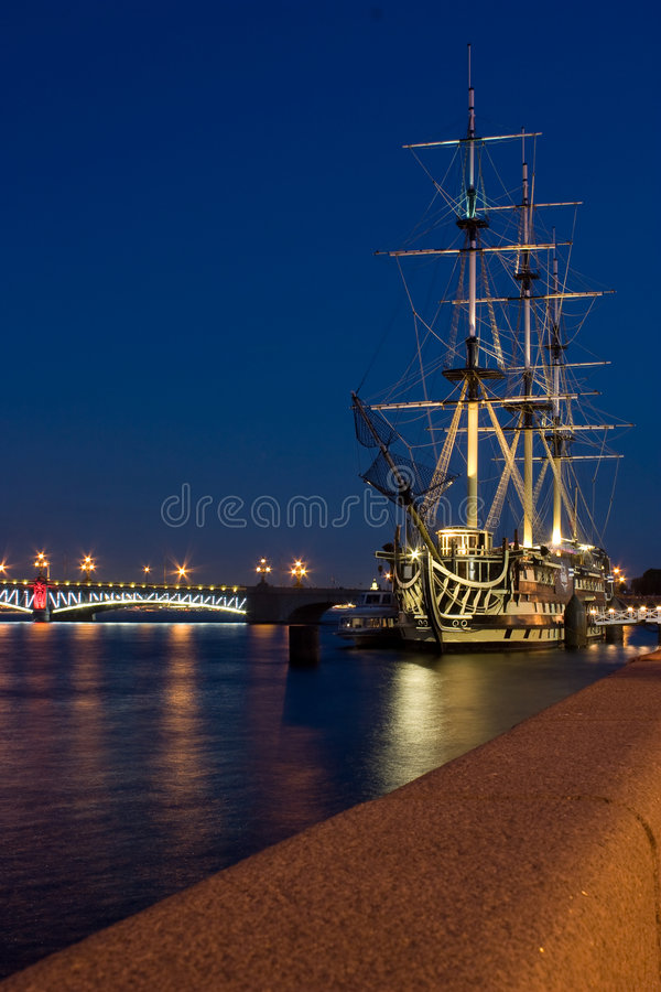 Download Ship in Saint Petersburg stock image. Image of hull, seafairing - 5596173