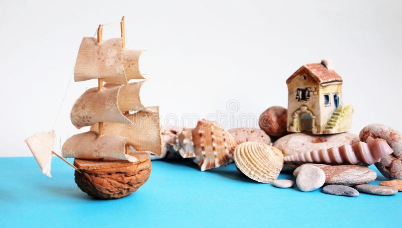 Download Ship on the sea stock image. Image of shell, object, water - 23406059
