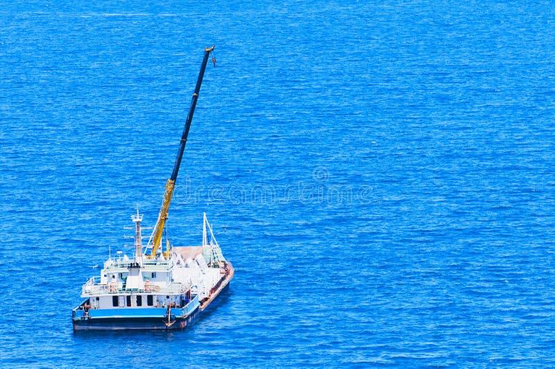 Ship  In  The  Sea Stock Image