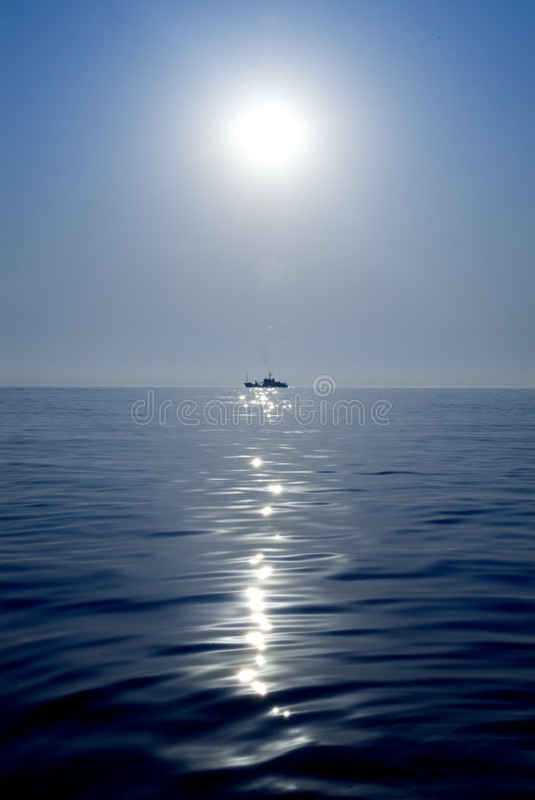 ship on the sea royalty free stock images