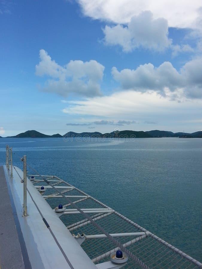 On the ship. Seaview rain bluewater thailand stock photos