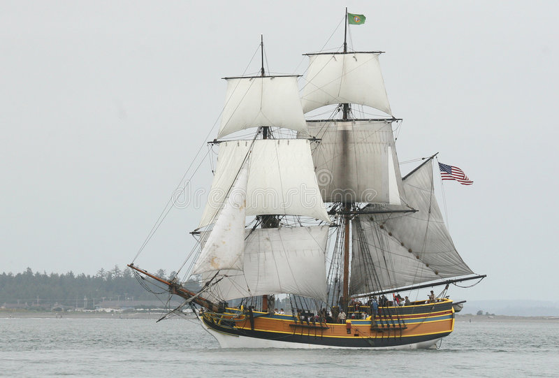 Download Ship Setting Sail stock image. Image of stormy, deck, vessel - 3674625