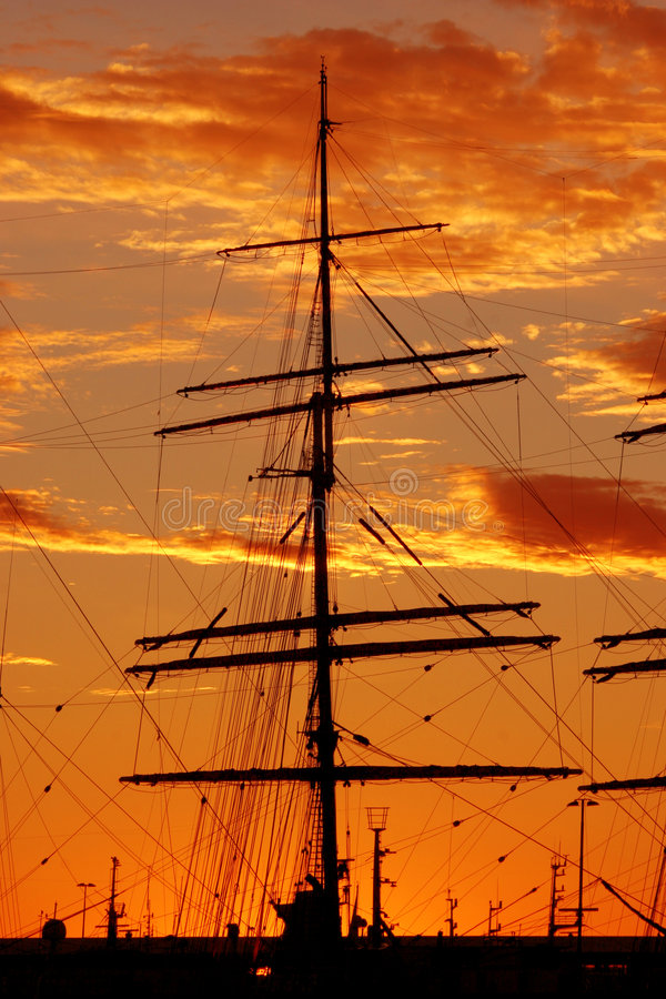 Ship silhouette royalty free stock photography