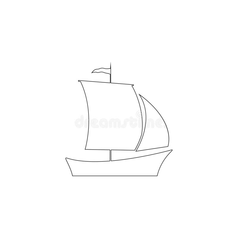 Ship. flat vector icon. Ship. simple flat vector icon illustration. outline line symbol - editable stroke stock illustration
