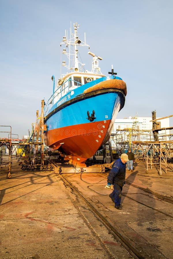 Ship in slipi royalty free stock photography