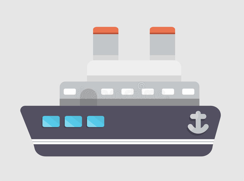 Ship Vector Transporation royalty free stock photos