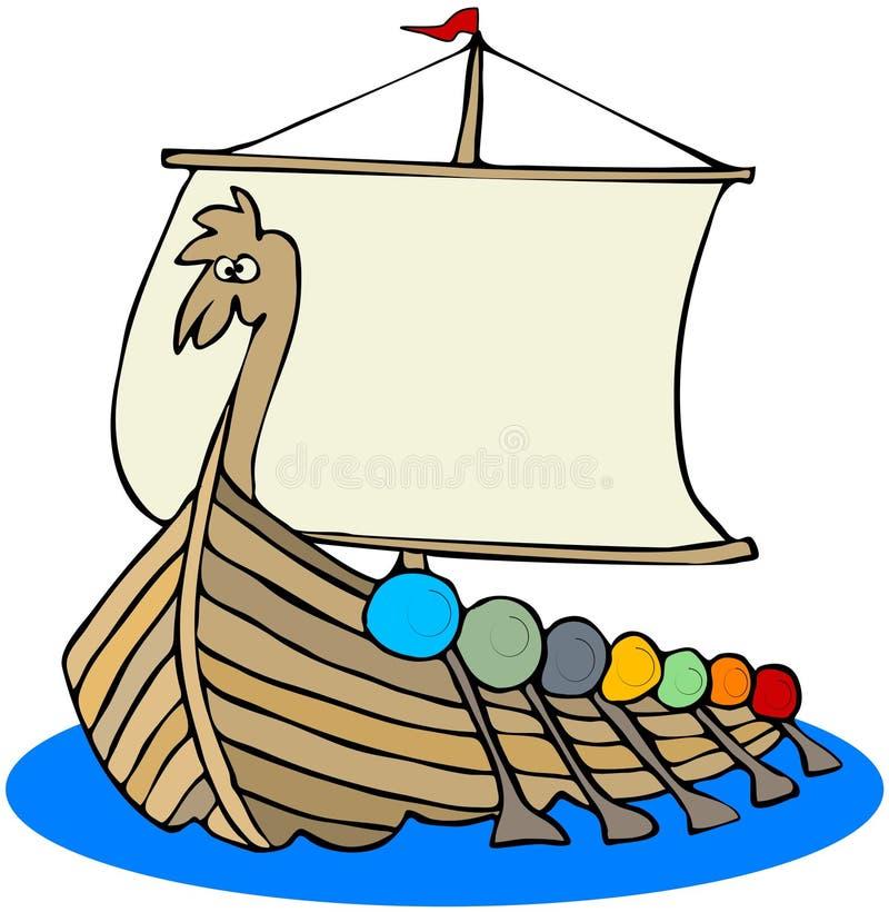 ship viking royaltyfri illustrationer