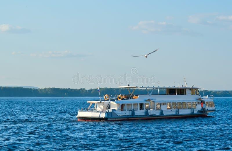 Download Ship on the Volga stock photo. Image of coastline, vacations - 16309636