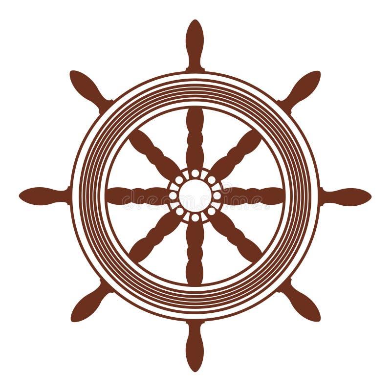 Ship wheel royalty free illustration