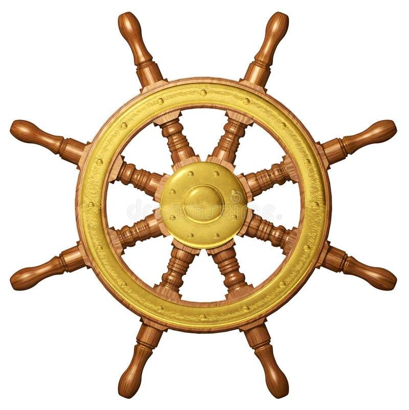 Ship Wheel 3D royalty free illustration