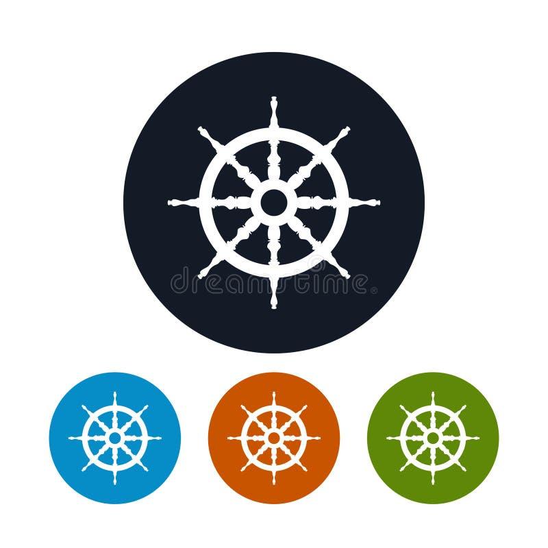 Ship wheel icon, vector illustration. Ship wheel icon ,for marine design,the four types of colorful round icons,vector illustration vector illustration