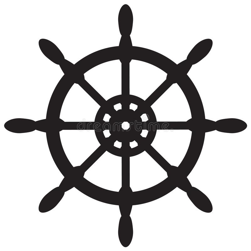 Ship wheel icon on white background. flat style. nautical icon for your web site design, logo, app, UI. ship symbol. steering. Ship wheel icon on white royalty free illustration