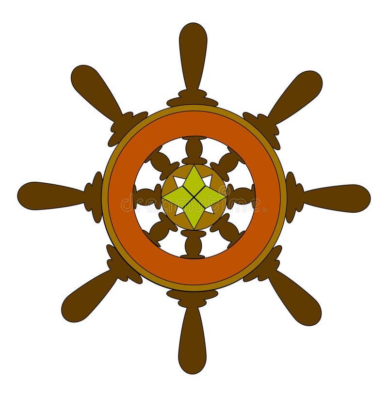 Ship whell stock illustration