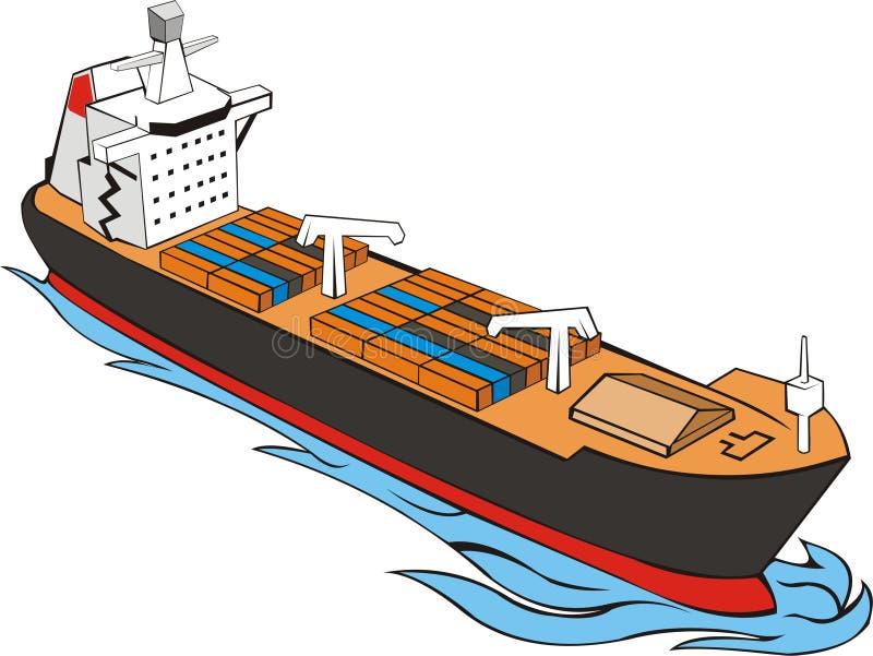 Download Ship witn cargo stock illustration. Image of ship, sail - 13996979