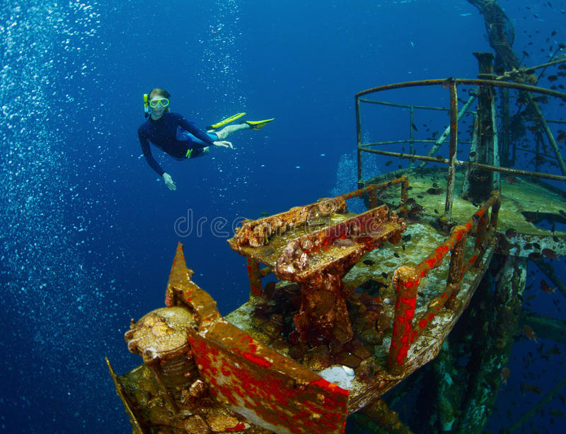 Ship wreck royalty free stock photography