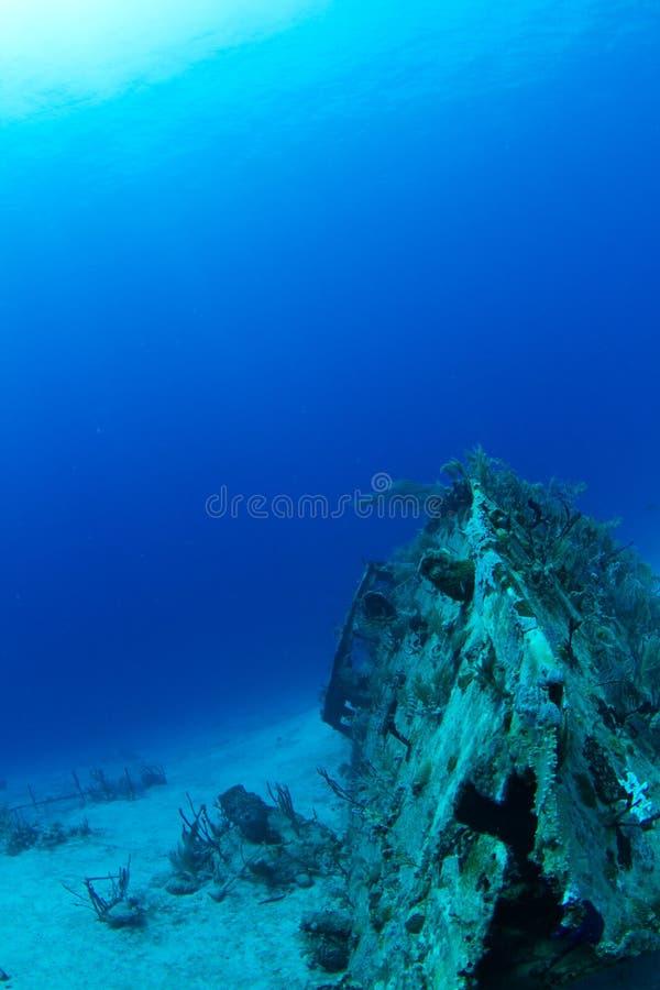 Ship wreck, Honduras royalty free stock photo