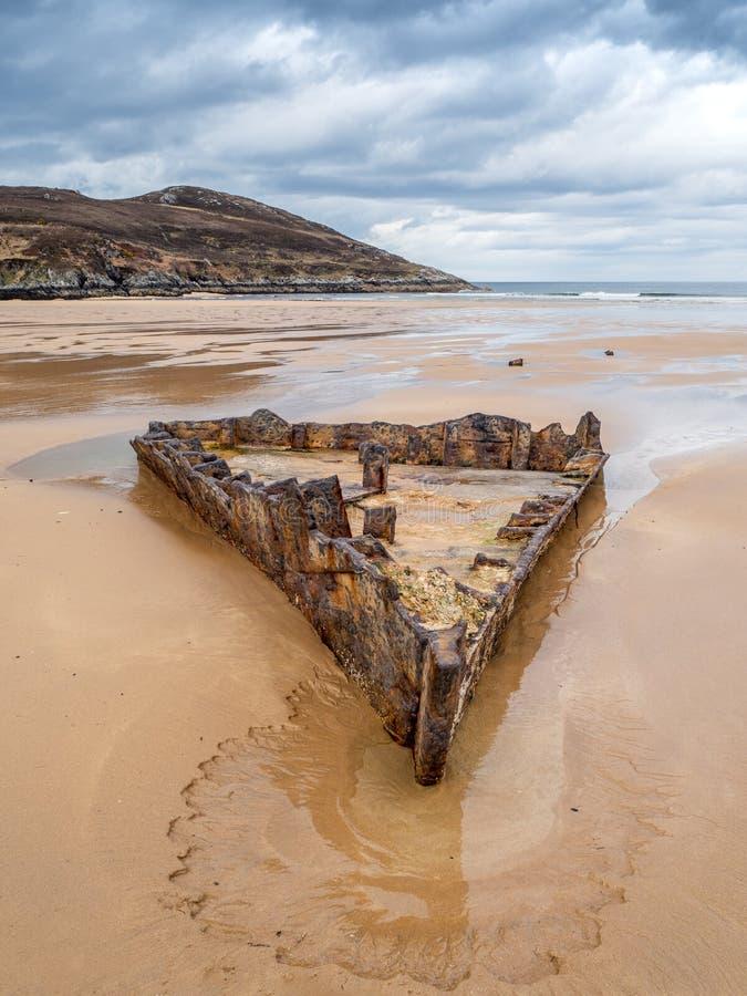 Free Ship Wreck On Bettyhill Beach SS John Randolf Stock Photography - 147033952