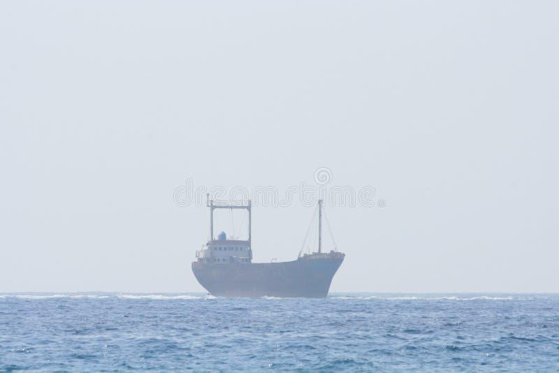 A ship wreckage in Paphos area stock photos