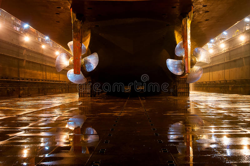 Shipbuilding bolts royalty free stock image