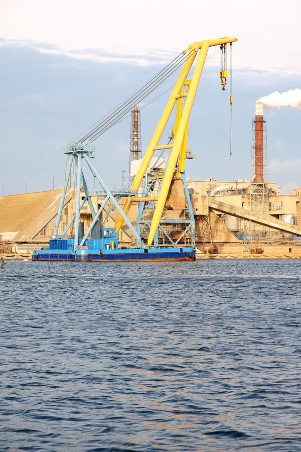 Shipbuilding crane stock photography